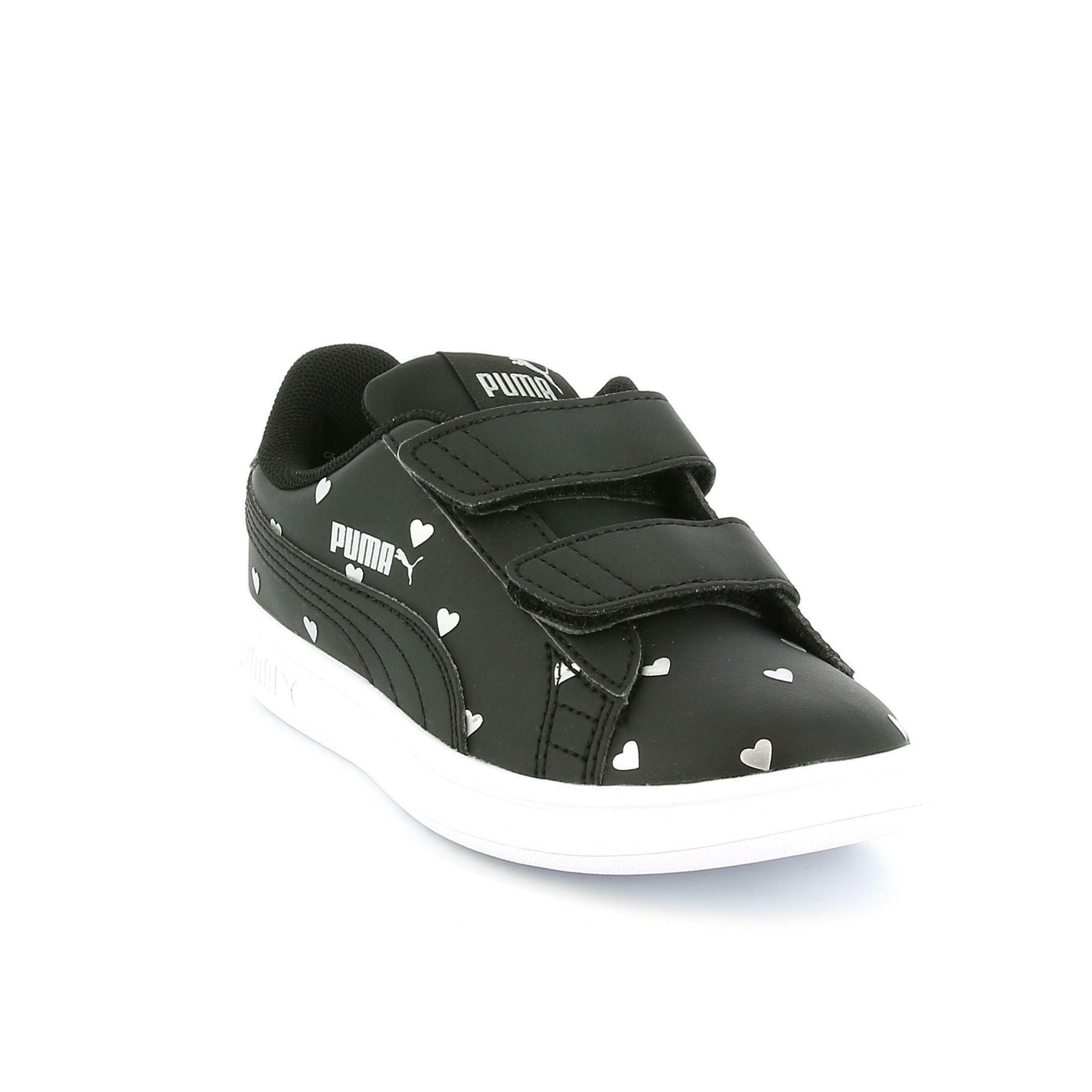 puma puma smash v2 l studs v inf bambina 374845 001 nero sneakers