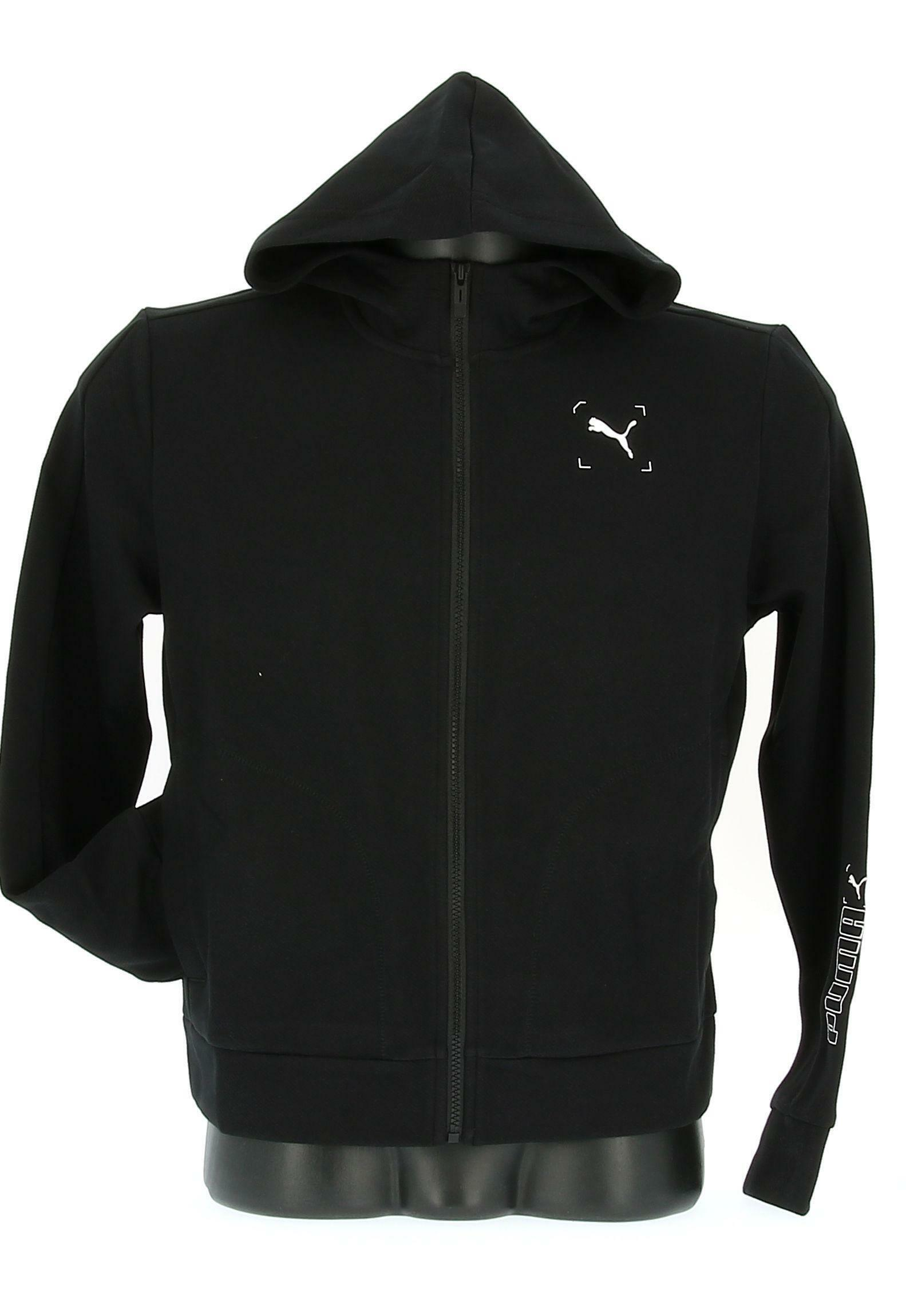 puma puma donna felpa 583549 001 nero hoodie donna