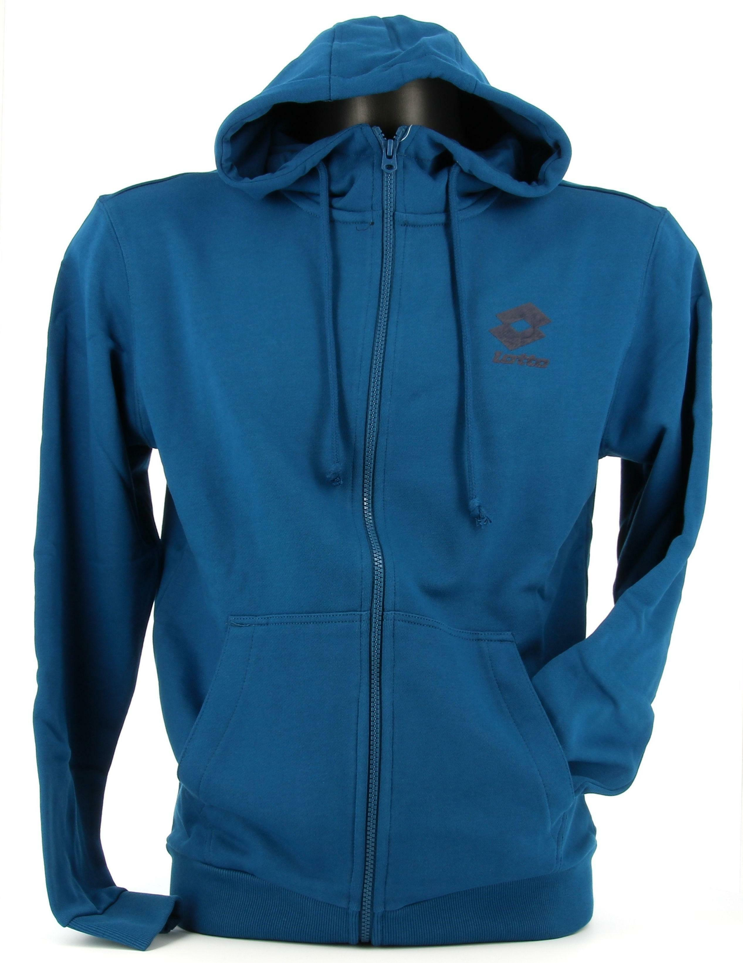 lotto lotto felpa 214471 blu hoodie uomo