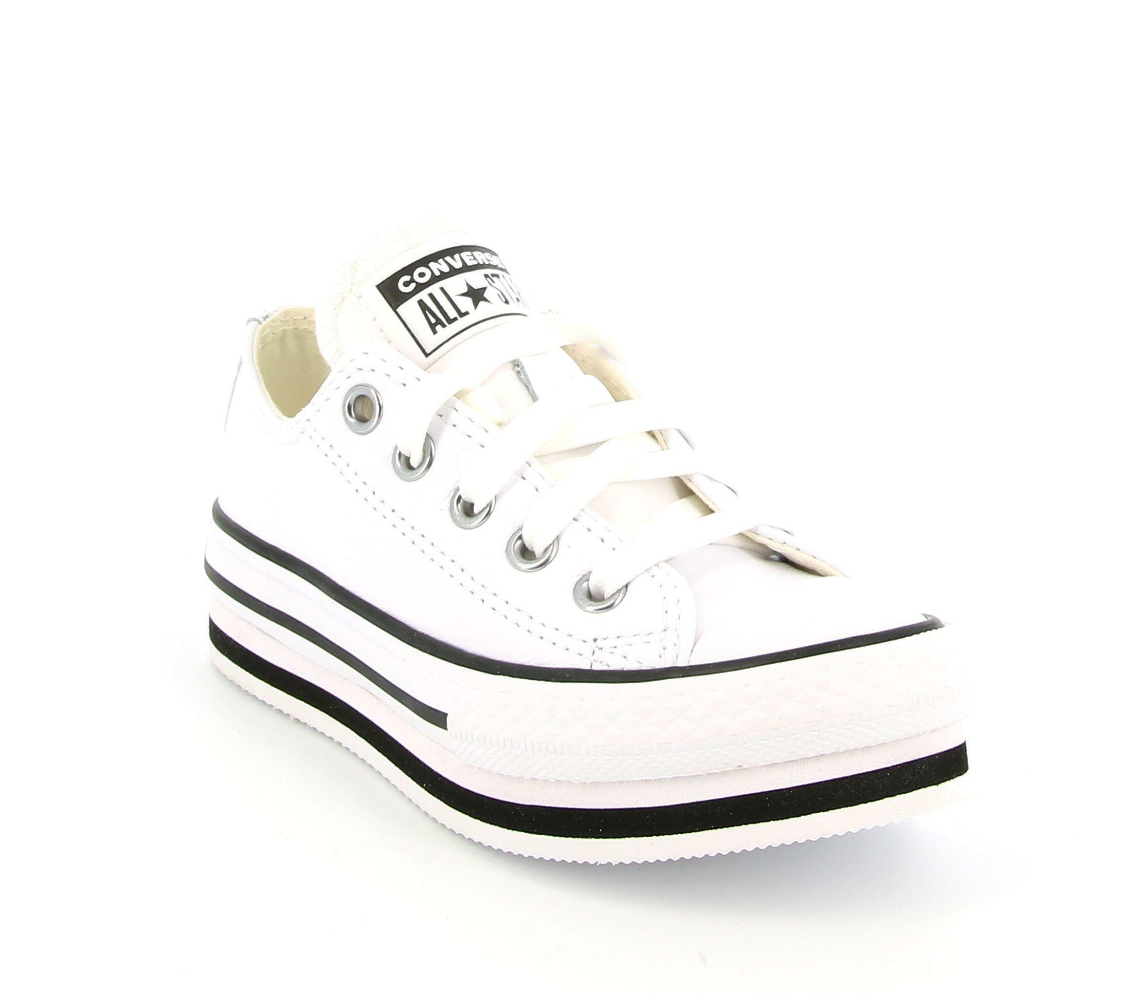 Converse ctas eva lift ox 669709c sneakers bambina bianca