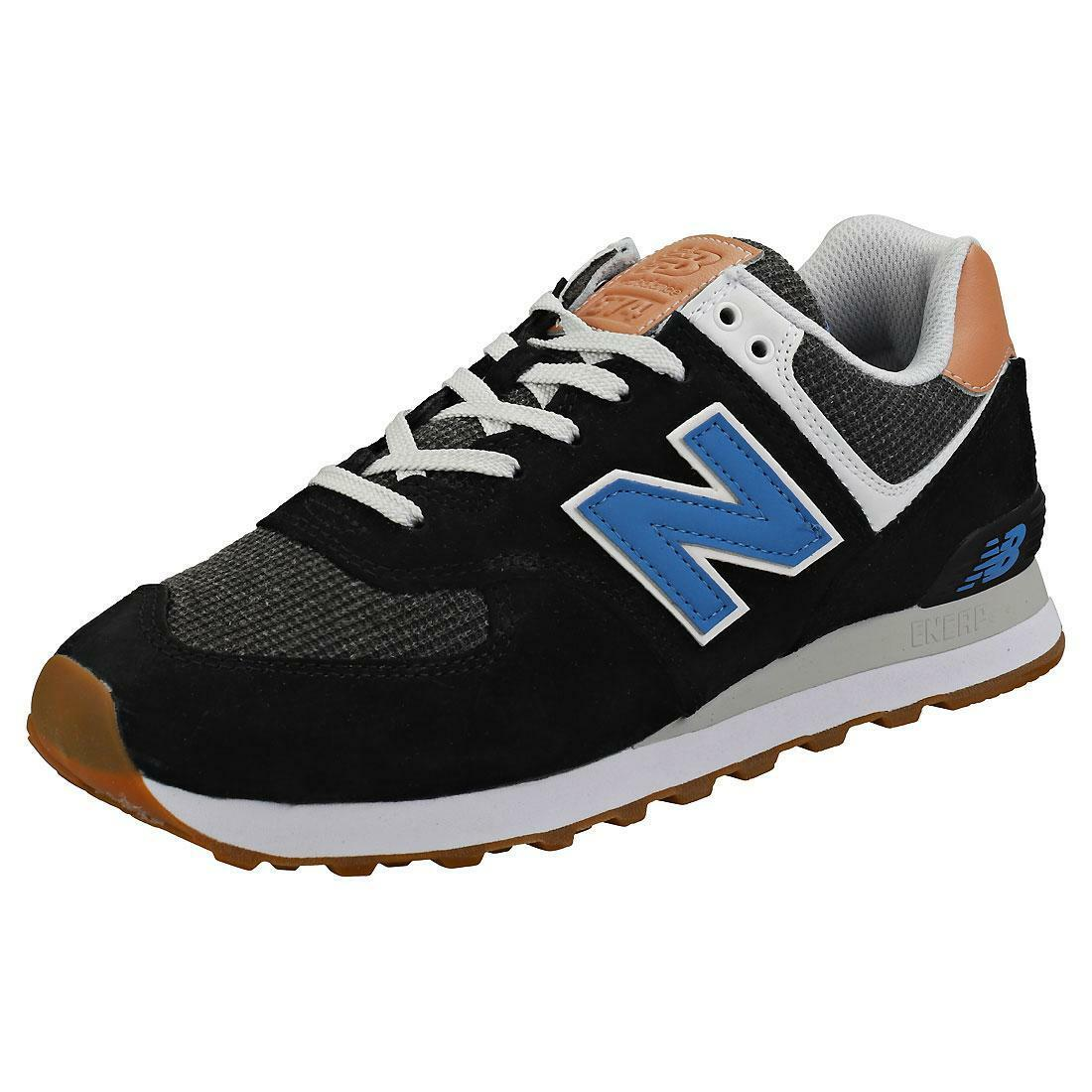new balance new balance 574 ml574tye nero scarpe da ginnastica uomo