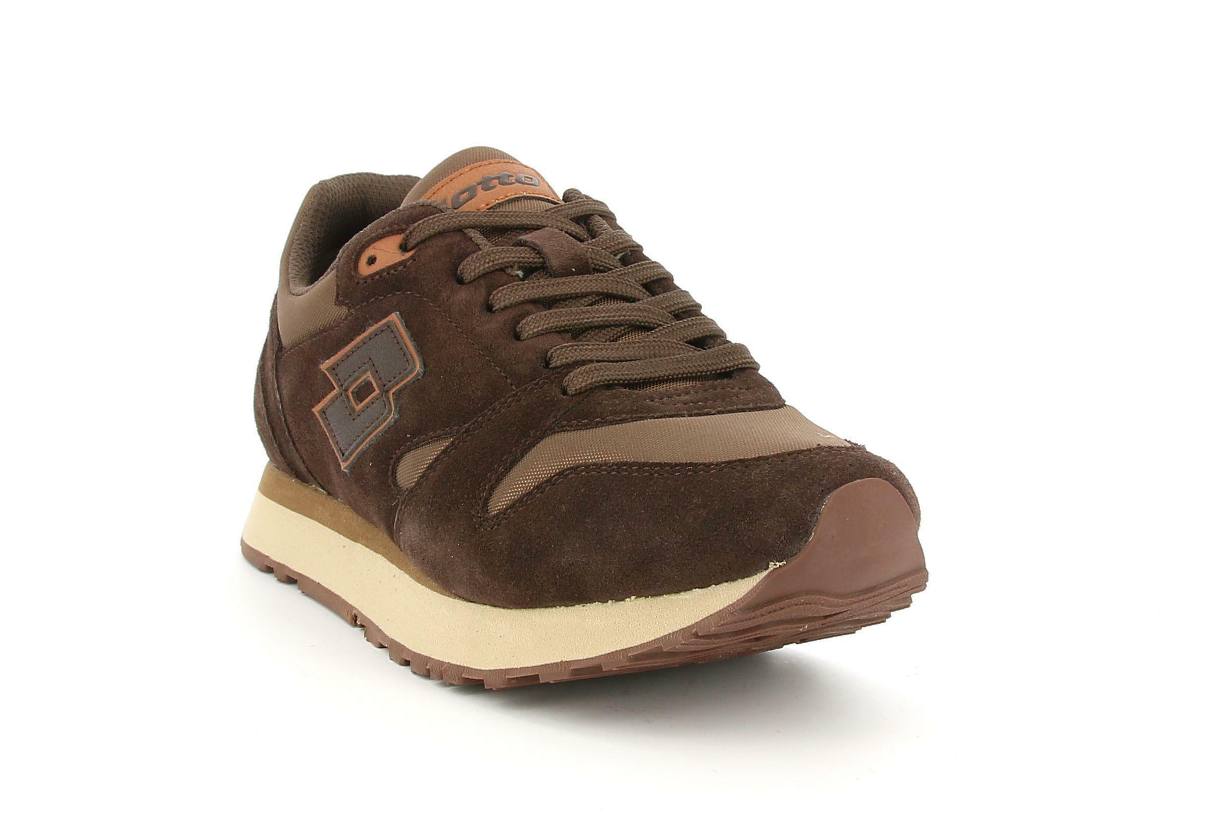 lotto lotto trainer xvi ny 214674 marrone scarpa sportiva da uomo