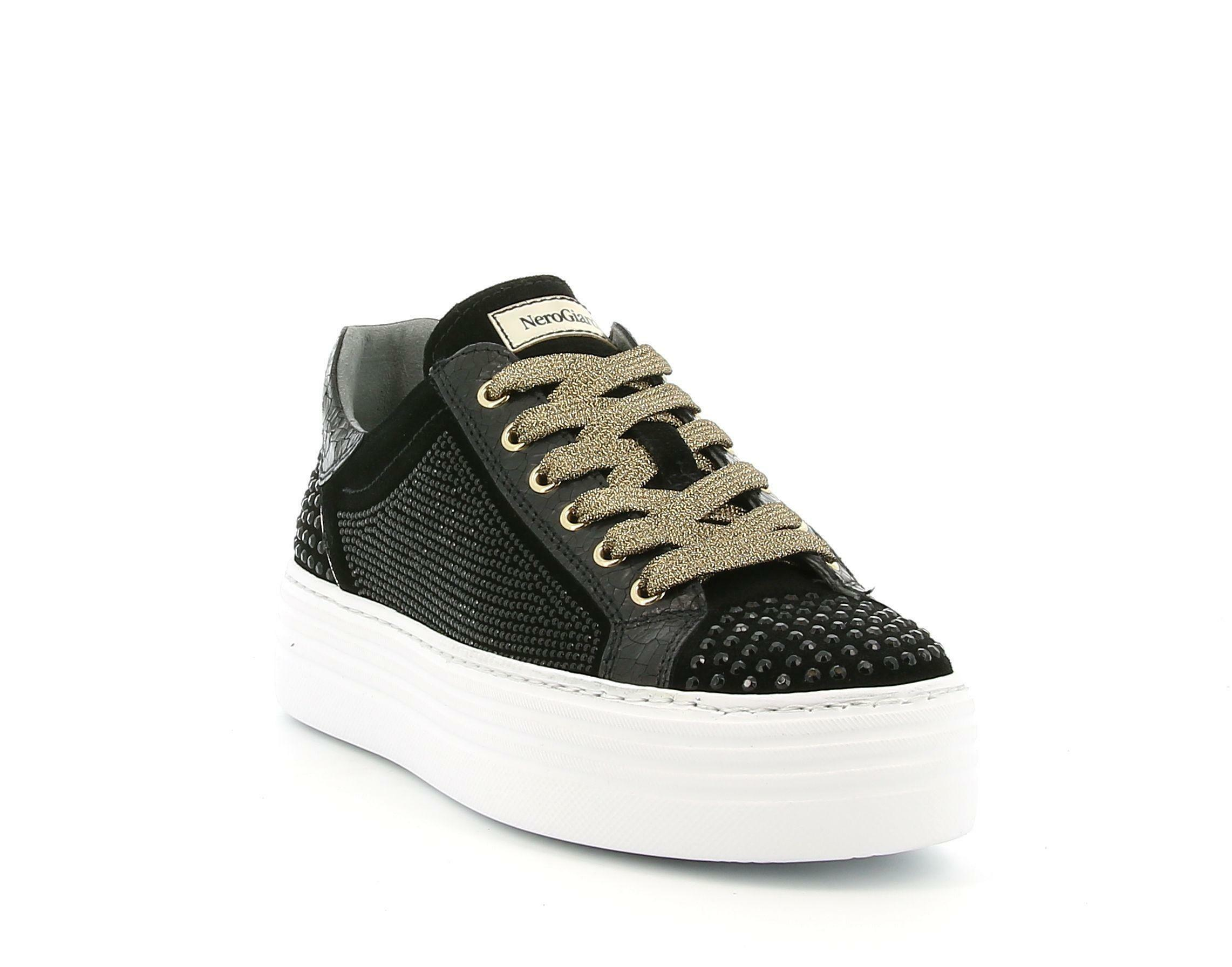 nero giardini nero giardini  i013374d 100 nero sneakers donna