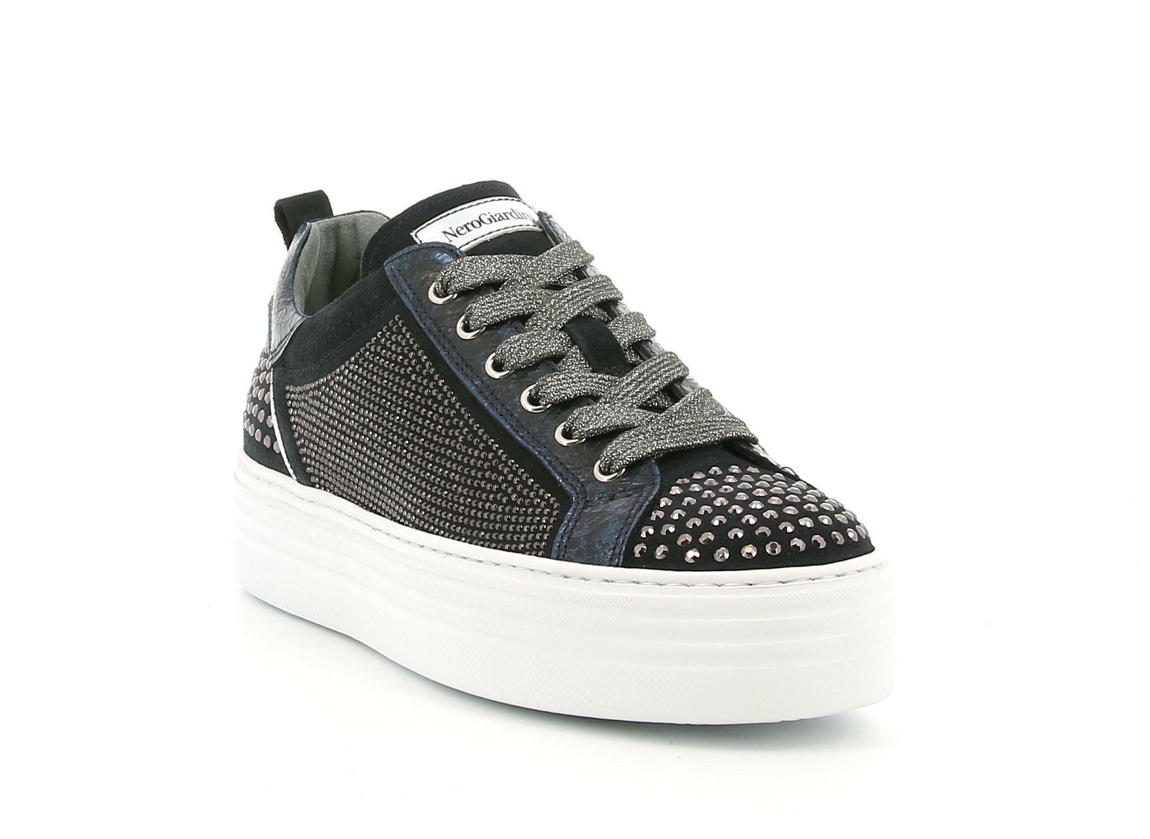 nero giardini nero giardini  i013374d 200 blu sneakers donna