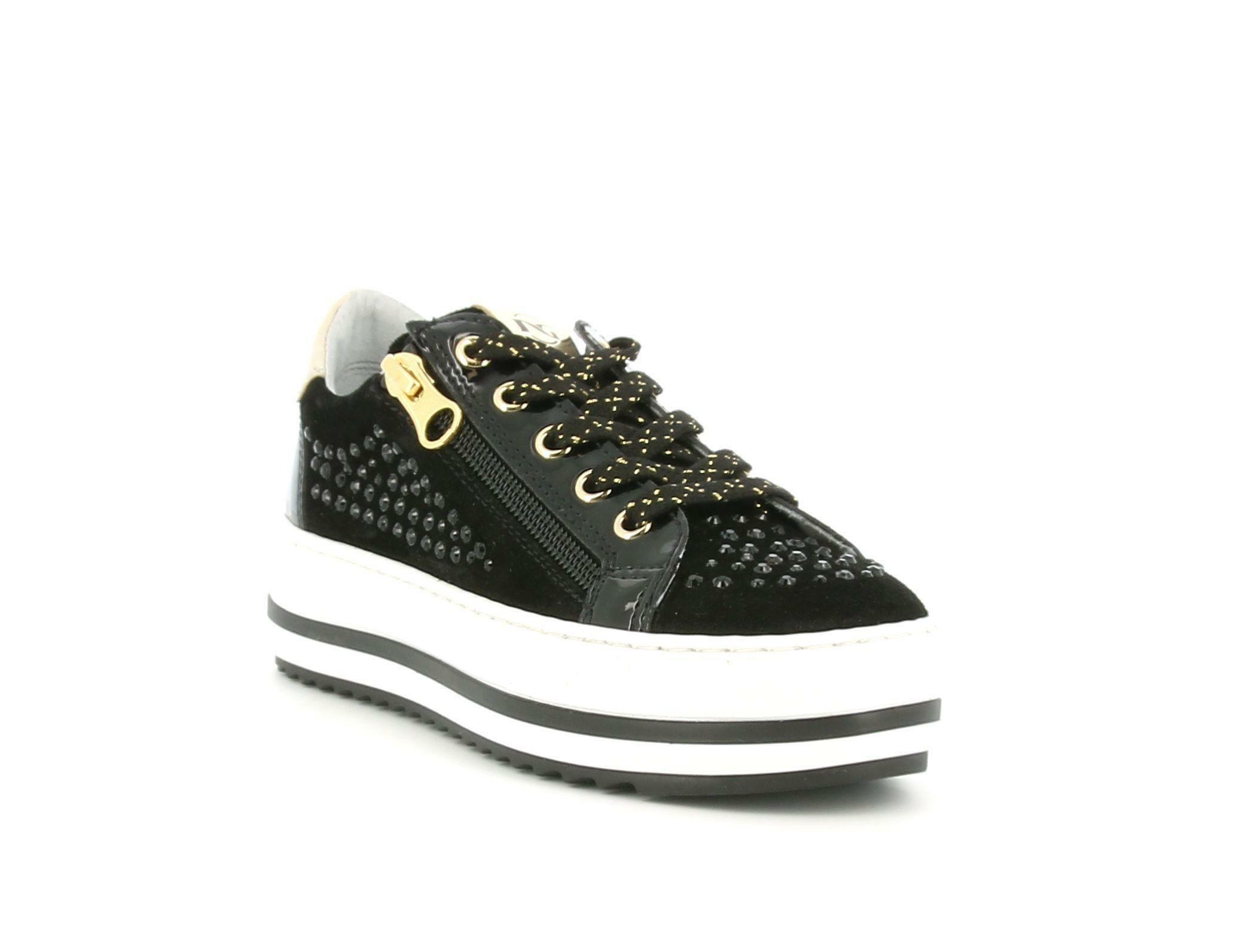 nero giardini nero giardini i031691f 100 nero sneakers bassa bambina