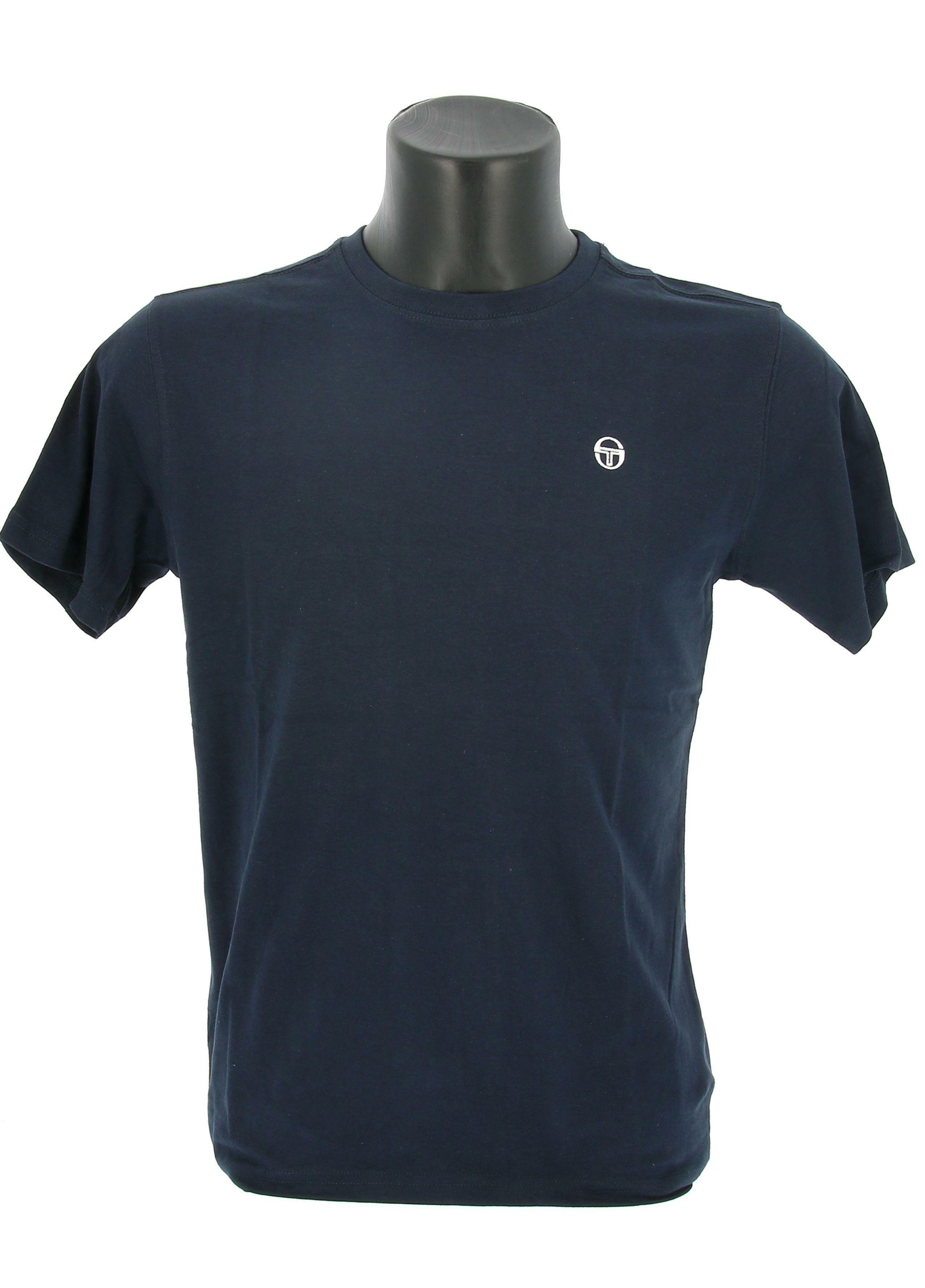 sergio tacchini sergio tacchini ss t-shirt iconic 10007 manica corta uomo blu
