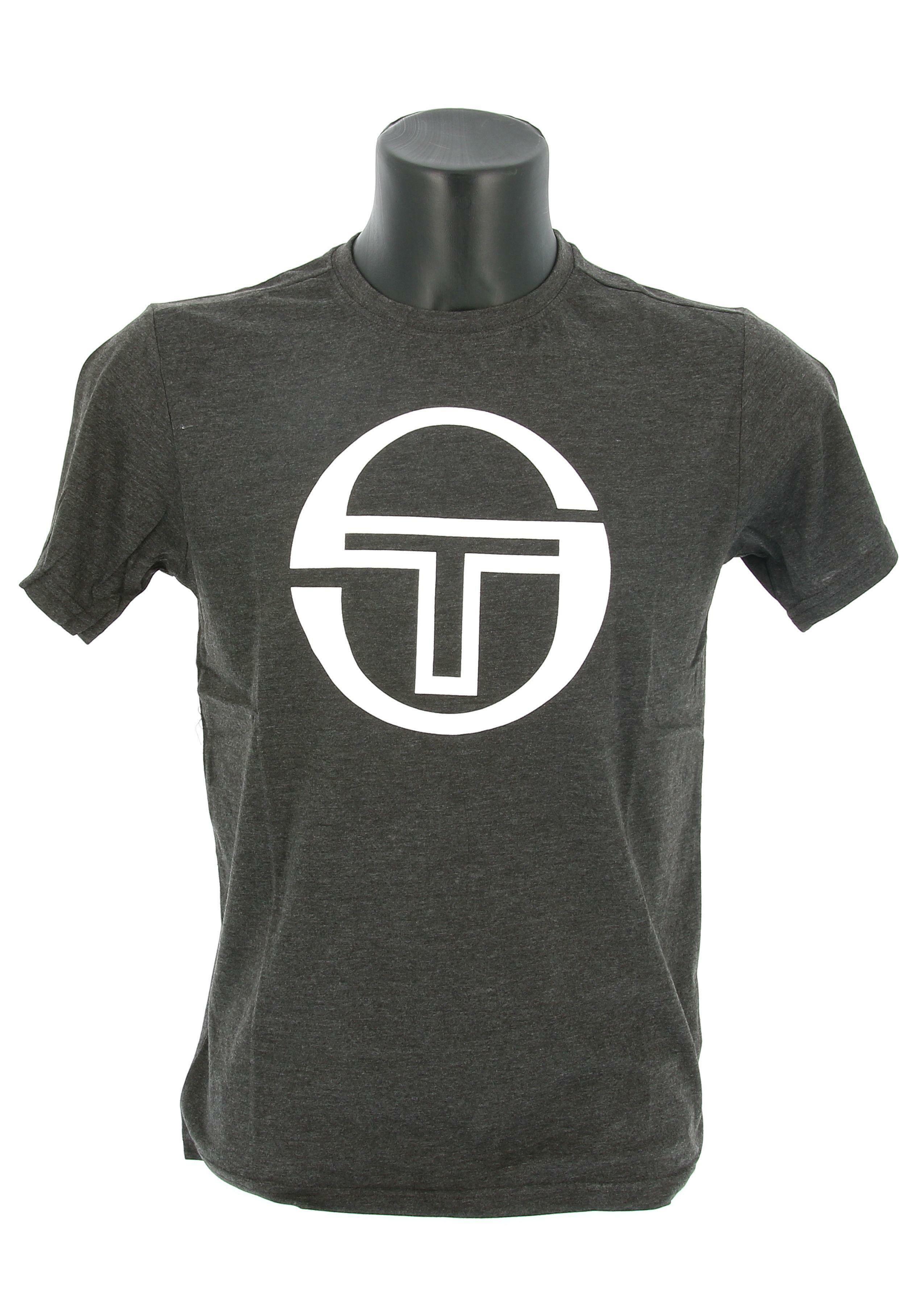 sergio tacchini sergio tacchini ss t-shirt stadium 10008  manica corta uomo grigio scuro