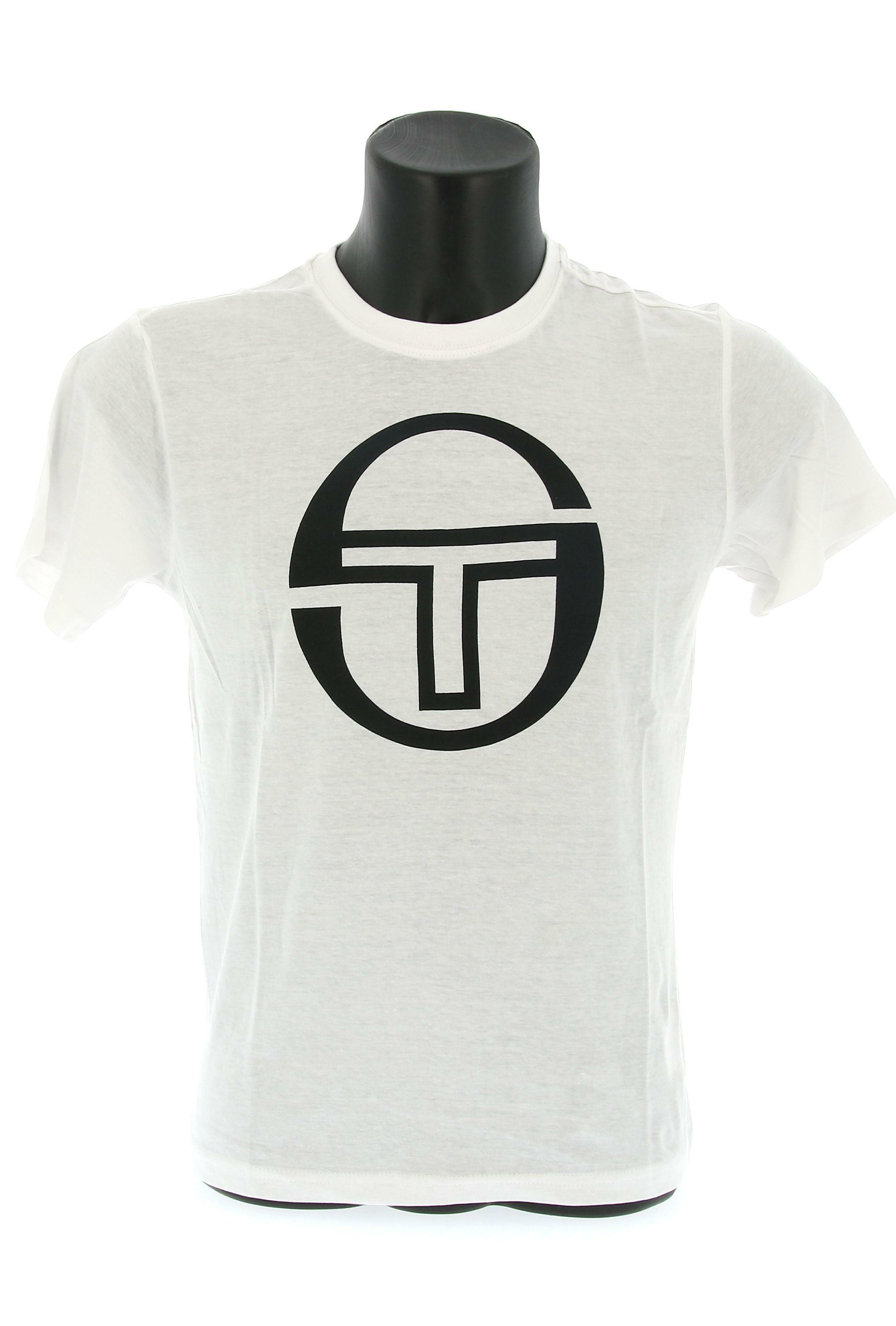 sergio tacchini sergio tacchini ss t-shirt stadium 10008  manica corta uomo bianca