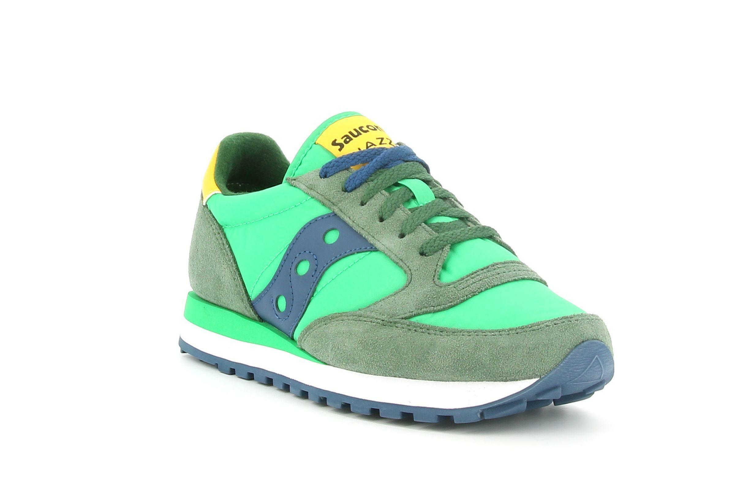 saucony saucony sneakers bassa s2044-602 da uomo verde gialla