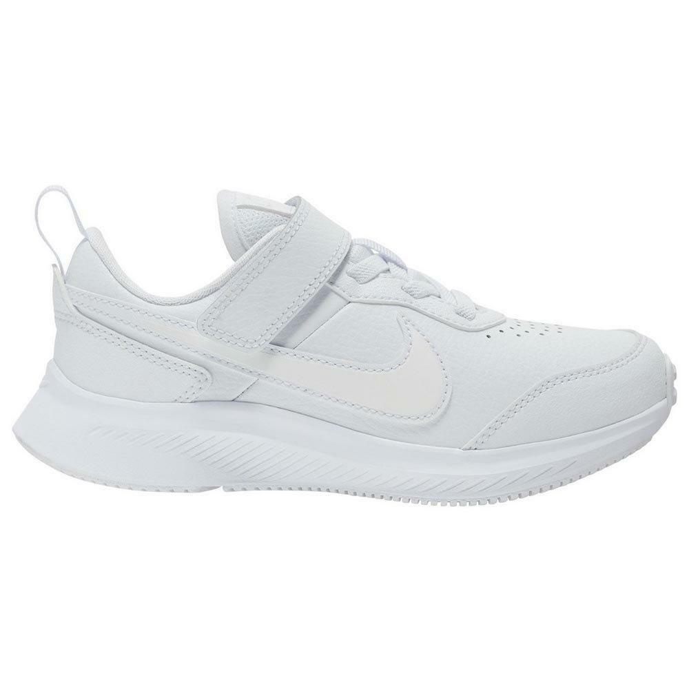 nike nike varsity leather (tdv) cn9397 101 scarpa sportiva bambino bianca