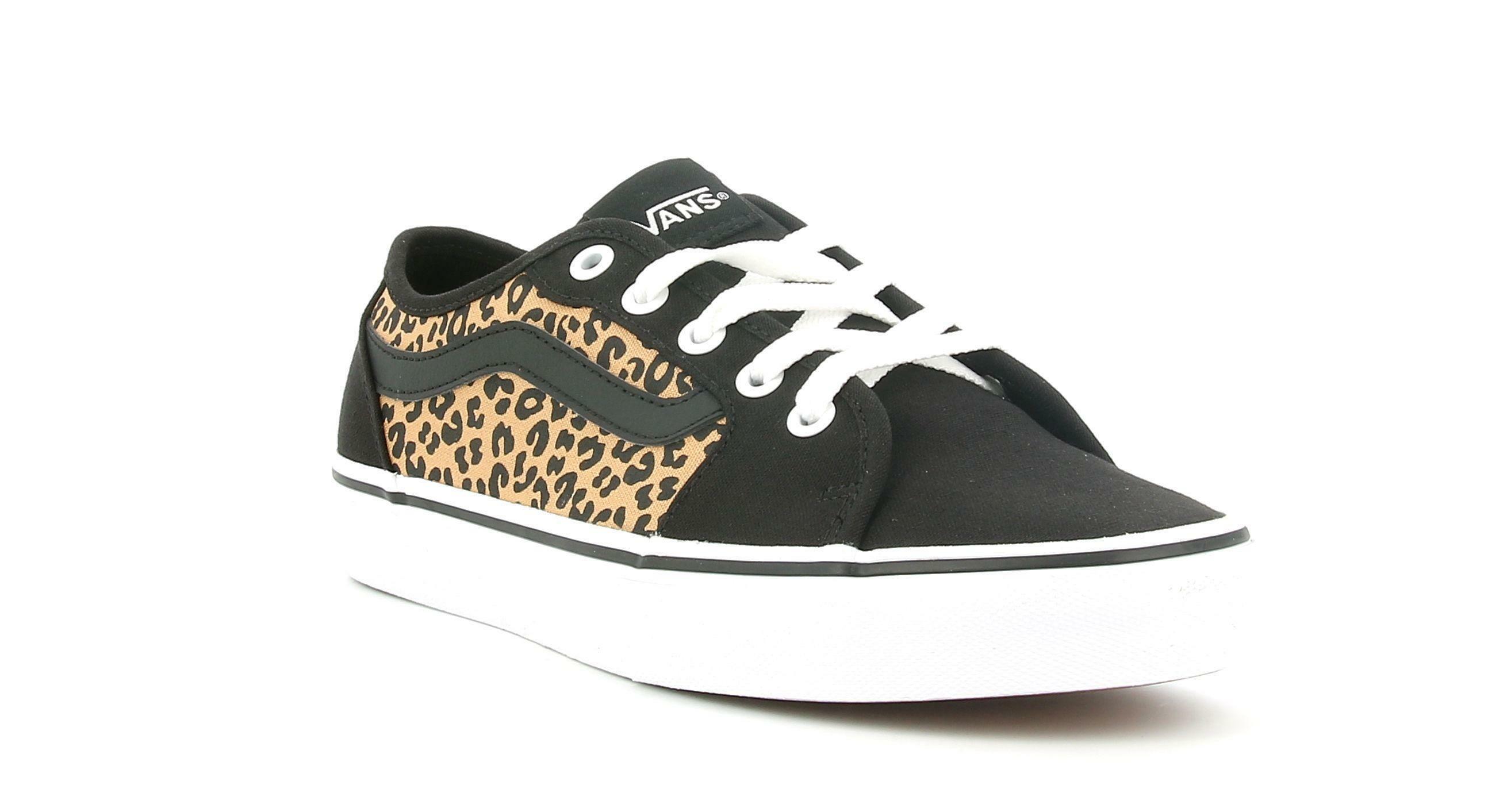 vans vans filmore decon cheetah vn0a45nm36i1 sneaker donna nero/bianco