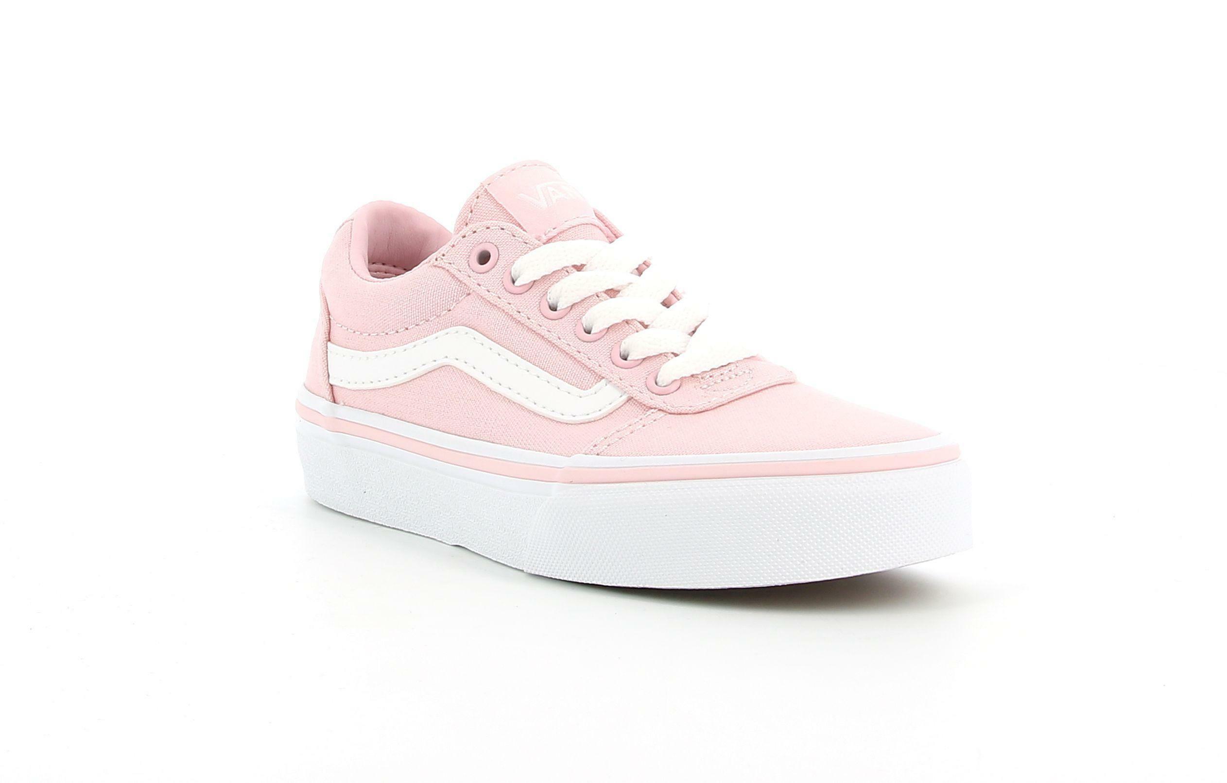 vans vans ward yt canvas vn0a3tfwvuz1 sneaker  bambina rosa