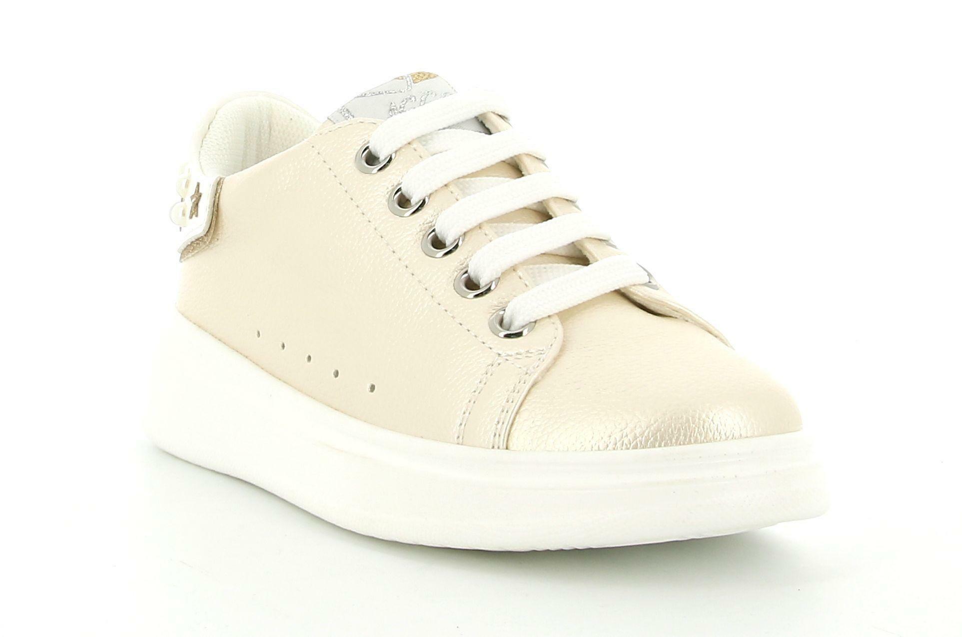 asso asso sneakers ag-10301 platino/white bambina