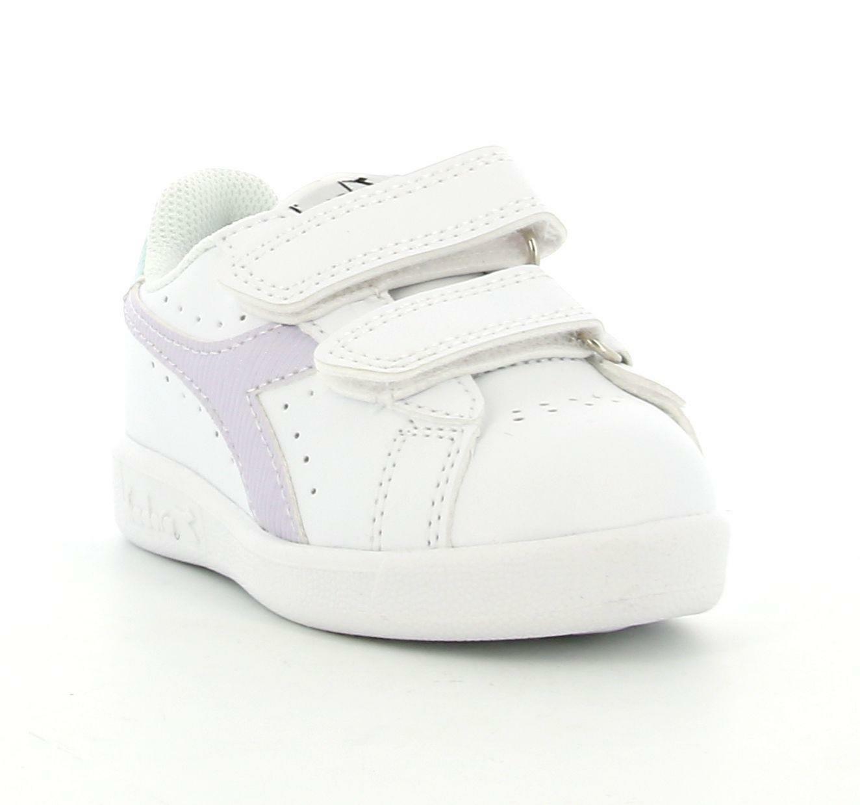 diadora diadora game p td girl 177018 scarpa sportiva bambina bianca viola