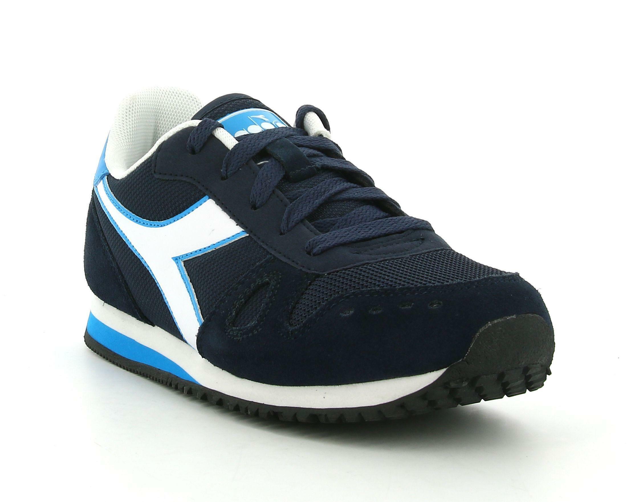 diadora diadora simple run gs 174382 scarpe sportive da bambino blu