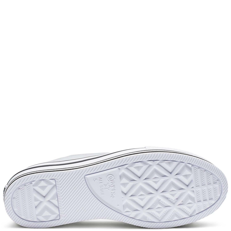 converse converse platform chuck taylor  layer ox 563971c scarpa donna bianco