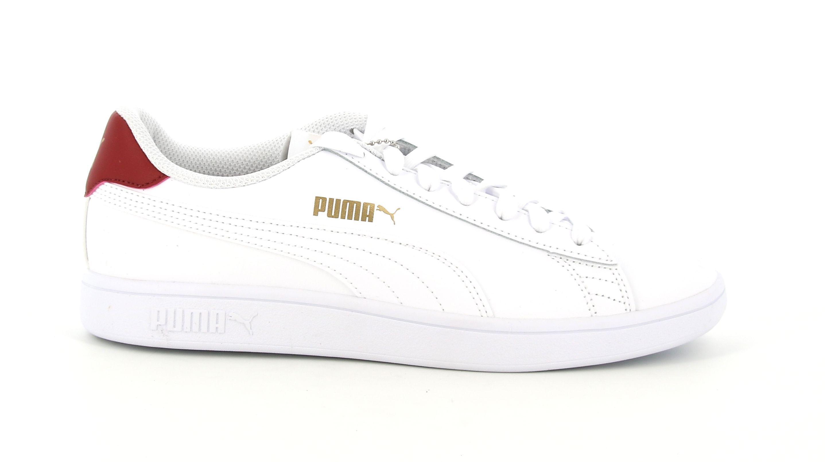 puma puma smash v2 l 365215 015 sneakers unisex uomo bianca