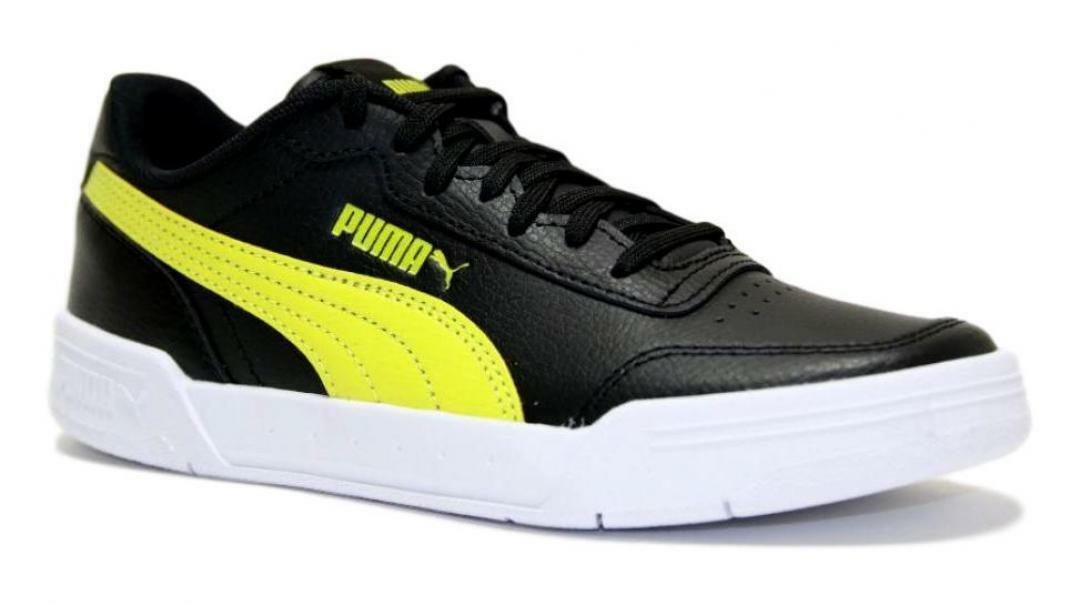 puma puma caracal jr bambino sneaker sportiva 370529 003 nero