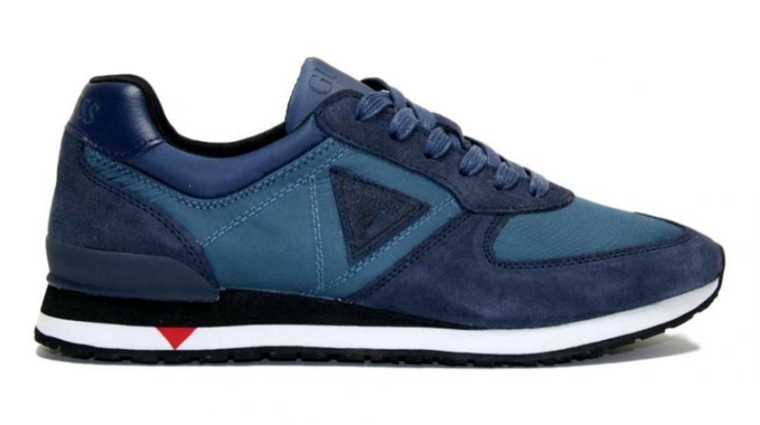 guess guess uomo sneaker sportiva  fm7chtsue12 blu