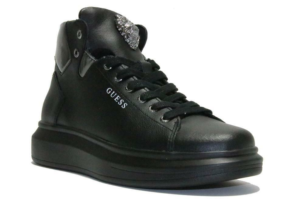 guess guess sneakers alta uomo fm70phlea12 nera