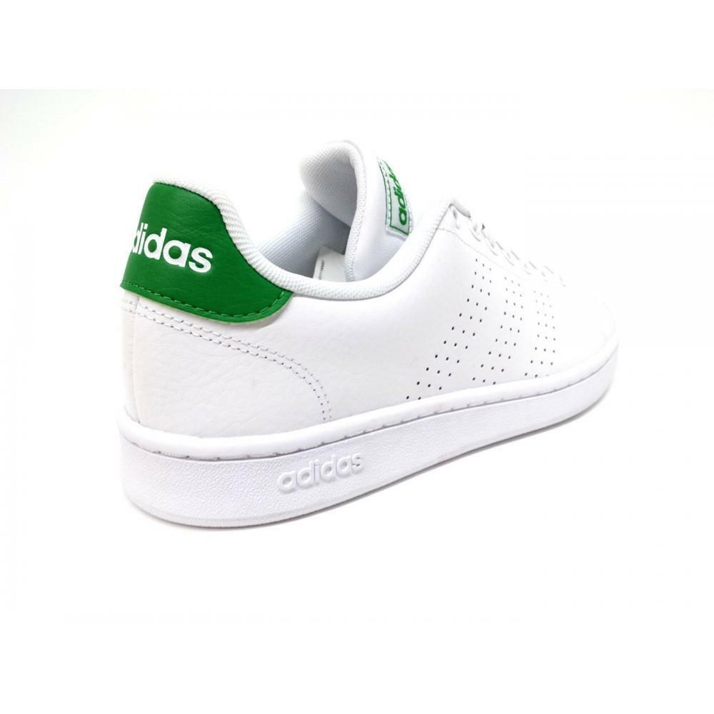 adidas adidas advantage uomo f36424 bianco verde