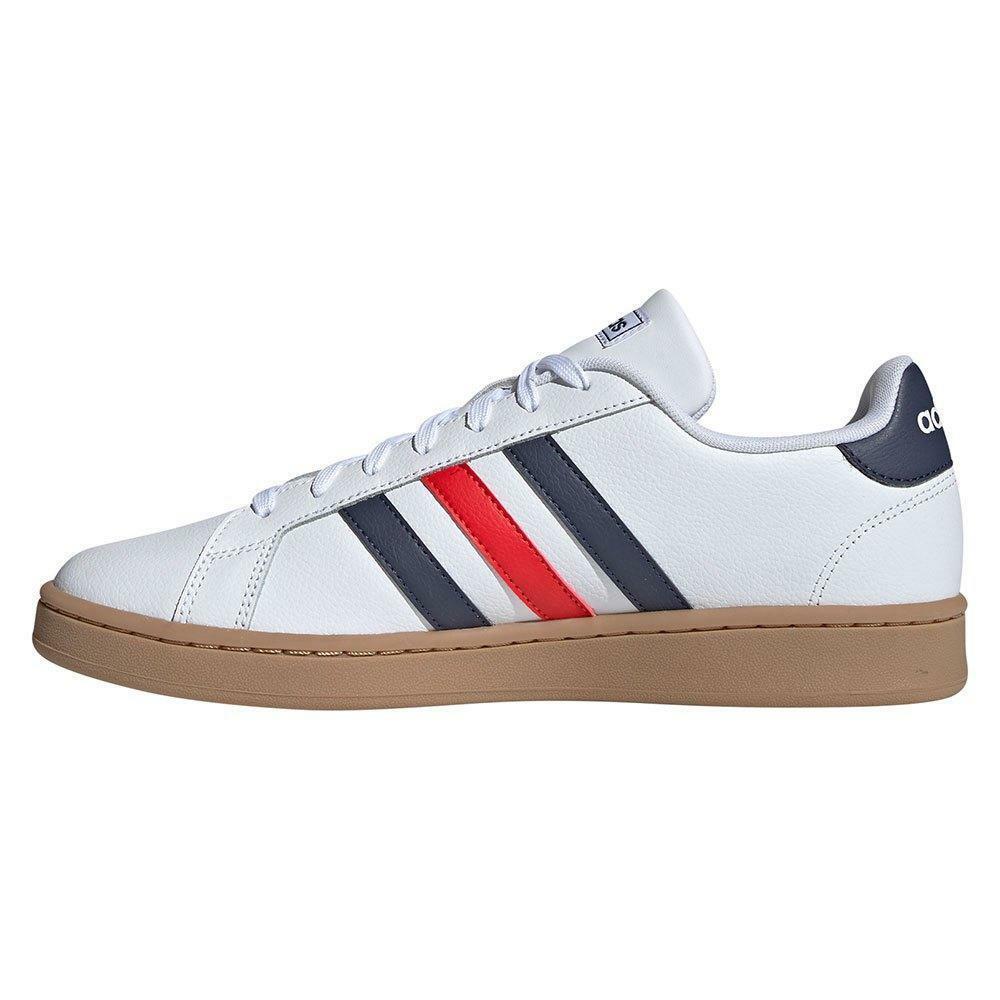 adidas adidas grand court uomo sneaker sportiva  ee7888 bianco