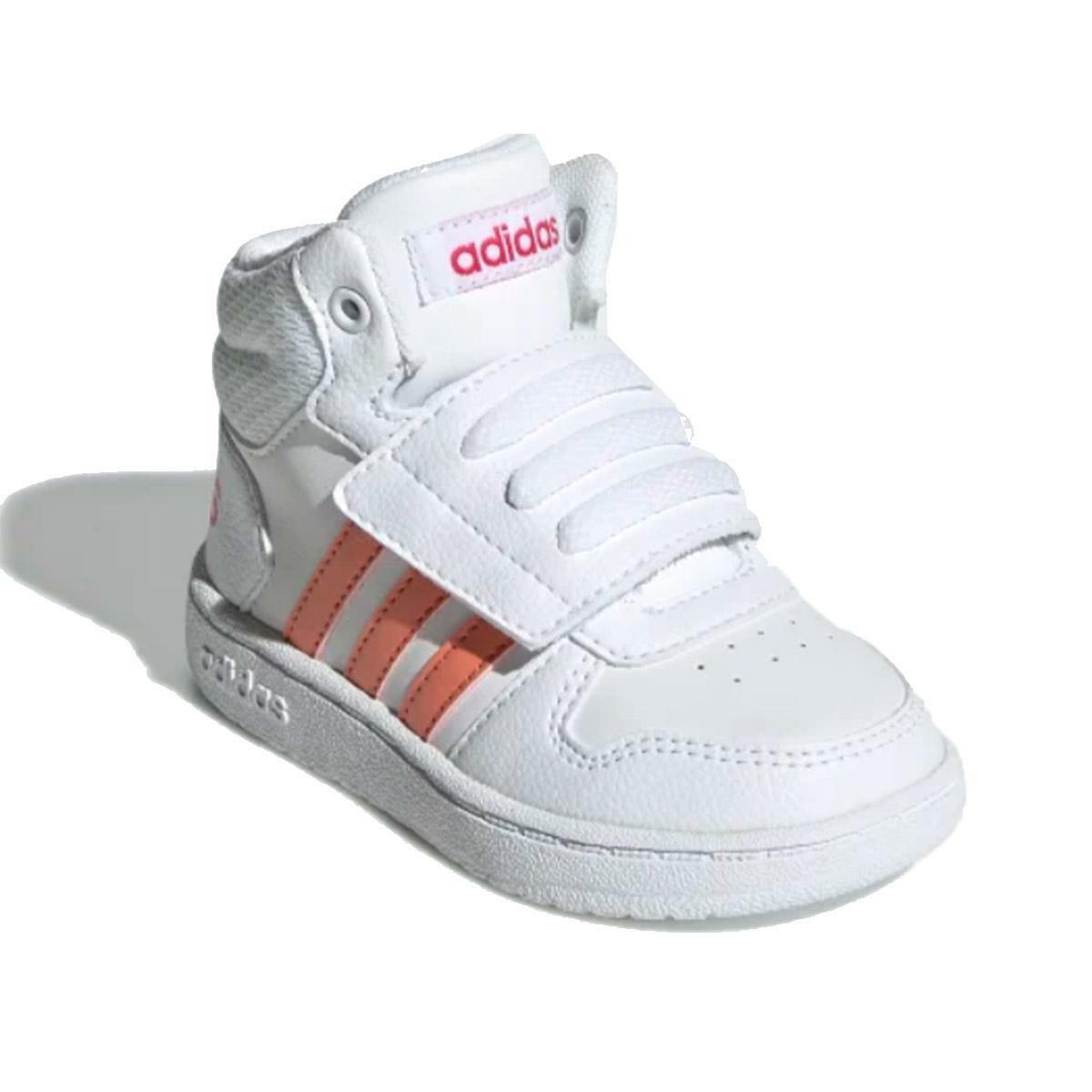 adidas hoops mid 2.0 i bambina sneaker alta ee6716 bianco