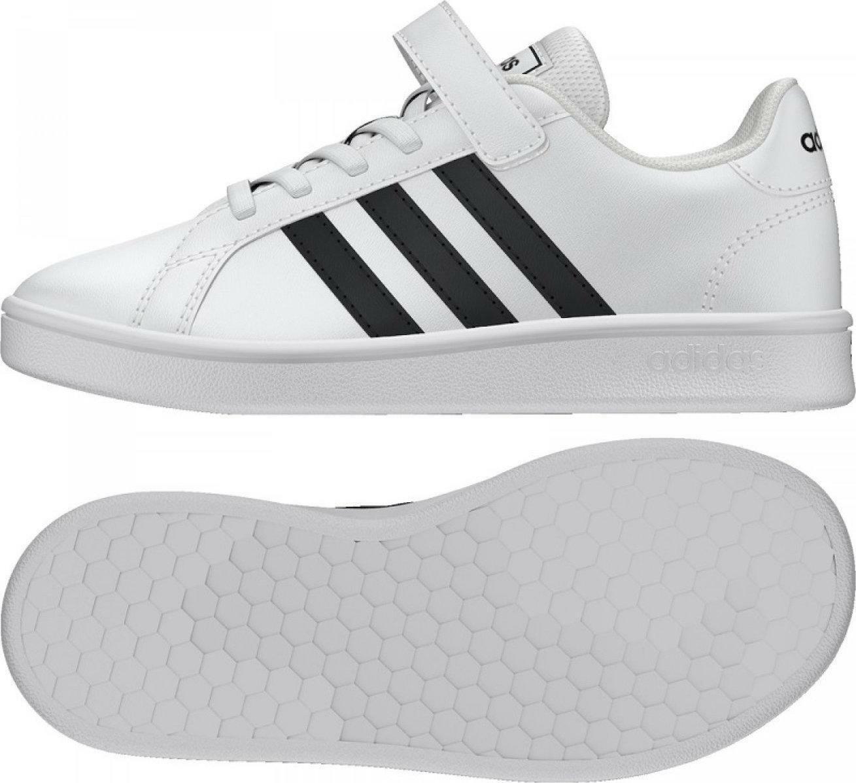 adidas grand court c bambino sneaker bassa ef0109 bianca