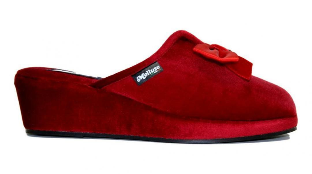 melluso melluso pantofole donna pd106f rosso