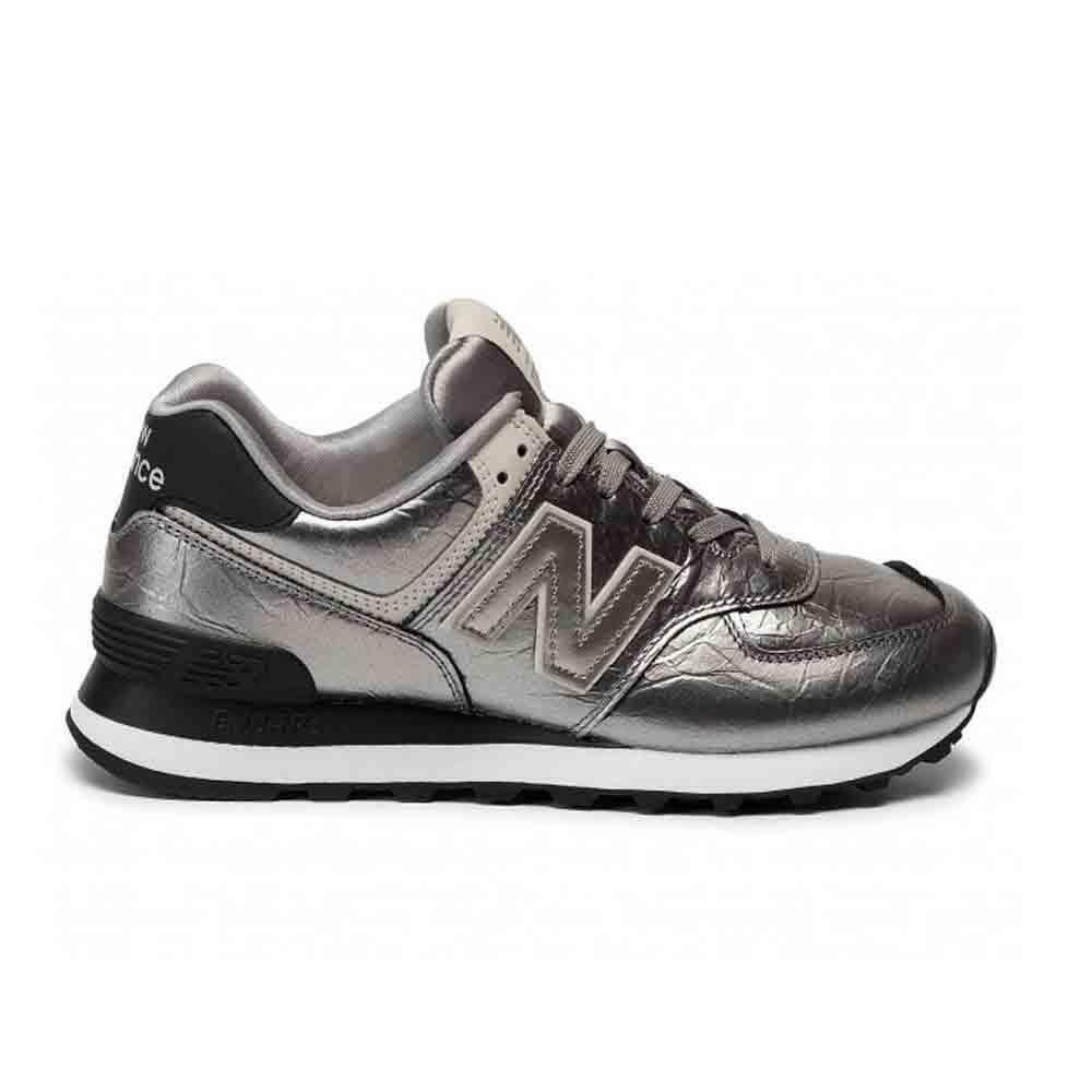 new balance new balance sportivo donna wl574wne  argento