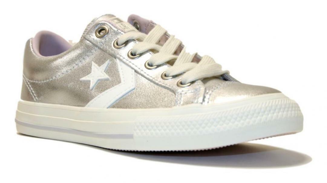 converse converse sneakers bambina star player ev ox 665874c argento
