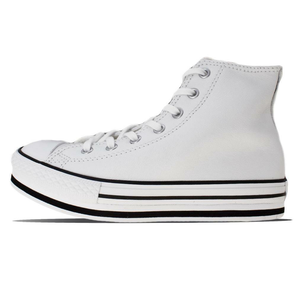 converse converse sneakers bambina platform eva hi 666392c bianco