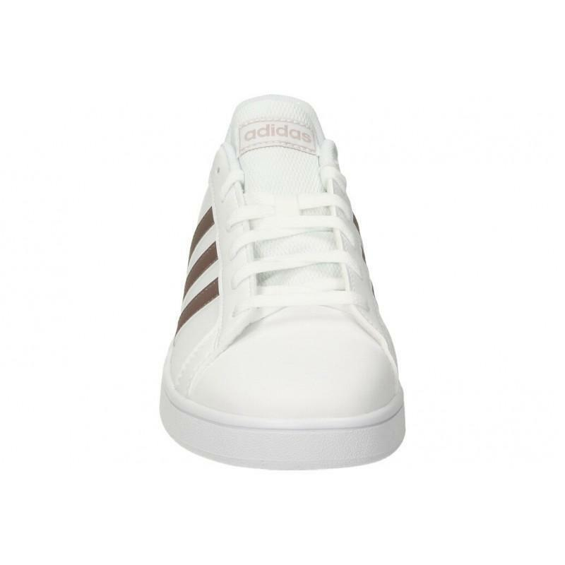 adidas adidas grand court k donna ef0101  bianco
