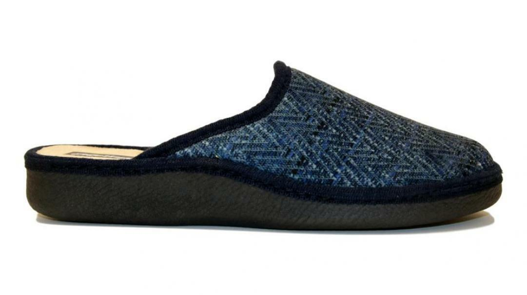 melluso melluso pantofole uomo pu159f blu