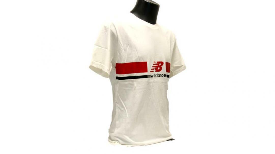 new balance new balance t-shirt uomo mt93550sst bianco