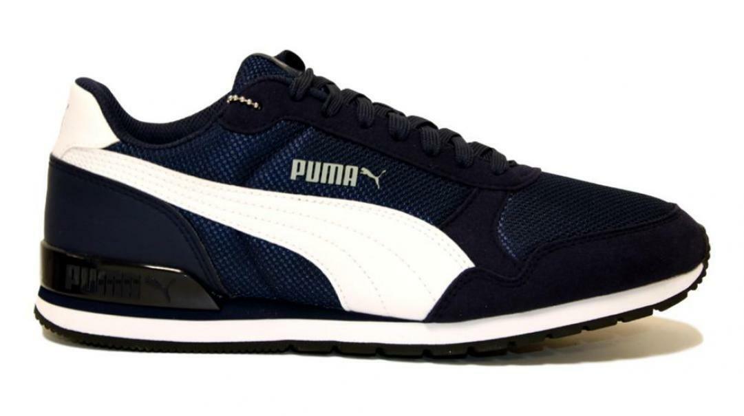 puma puma st runner v2 mesh  366811 003 blu