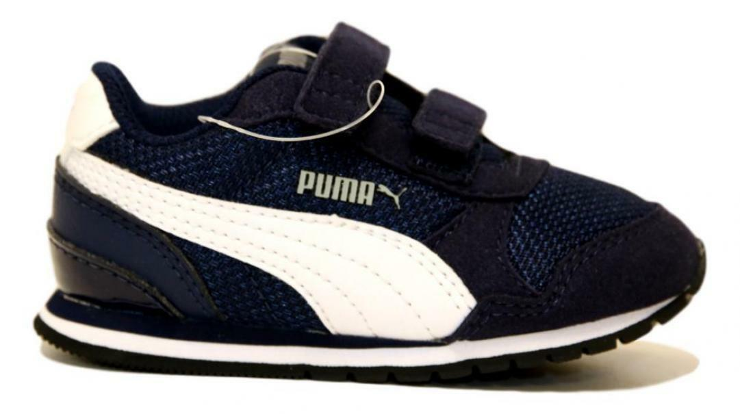 puma puma st runner v2 mesh v inf bambino 367137 001 blu