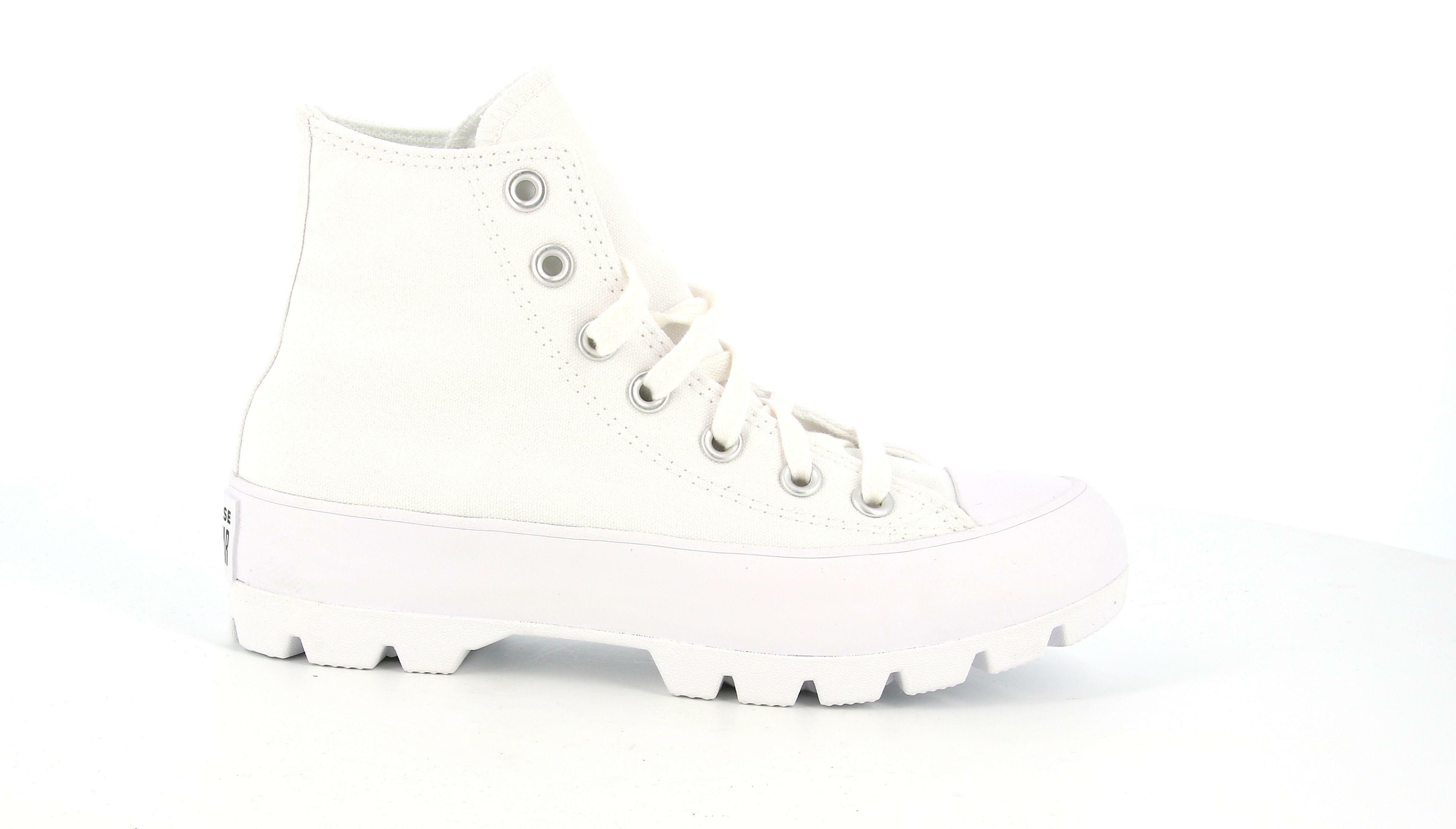 converse converse all star luggend hi  white/black/white 565902c bianco