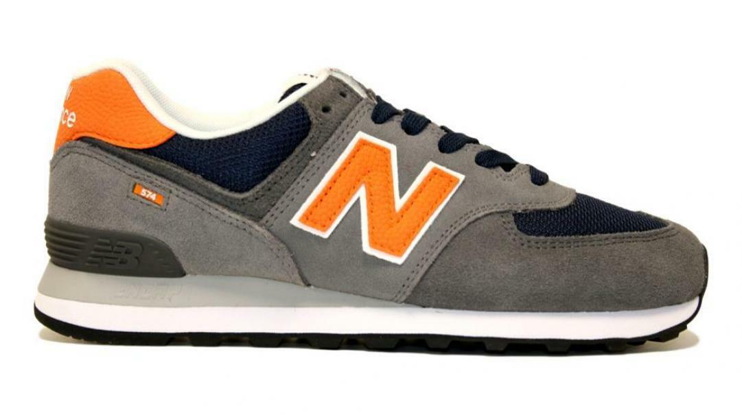new balance new balance sportivo grey/navy uomo ml574eaf grigio