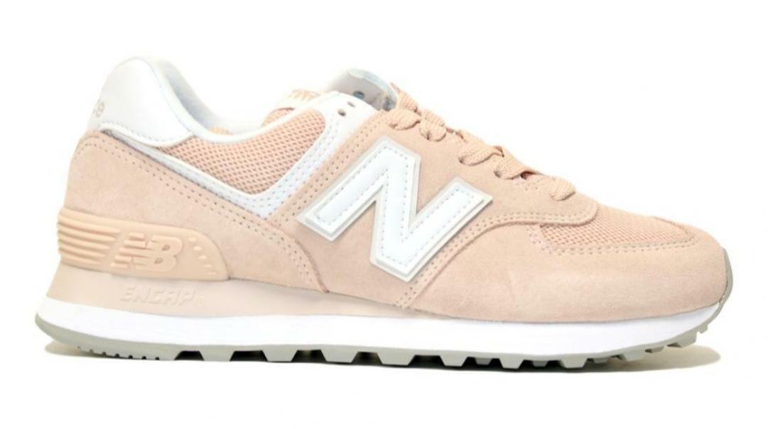 new balance new balance sportivo pink/white donna wl574oab rosa
