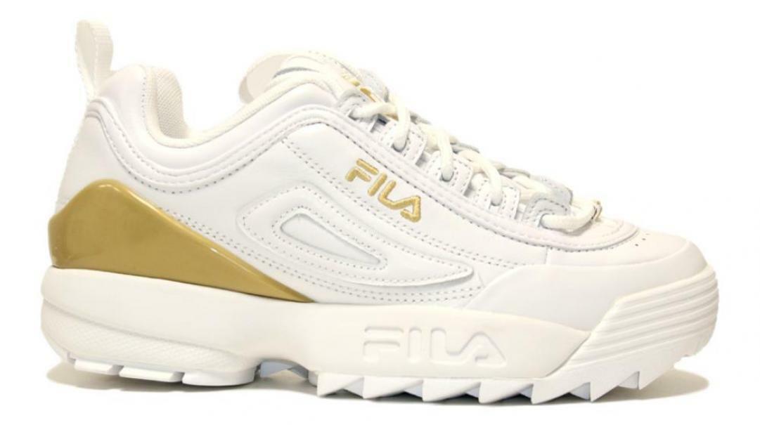 fila fila allacciato sportivo donna 1010862.1fg bianco oro