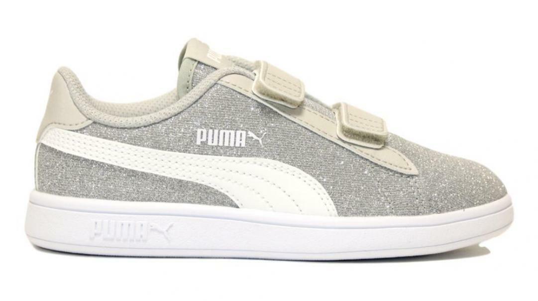 puma puma smash v2 glitz glam v ps silver 367378 017 argento