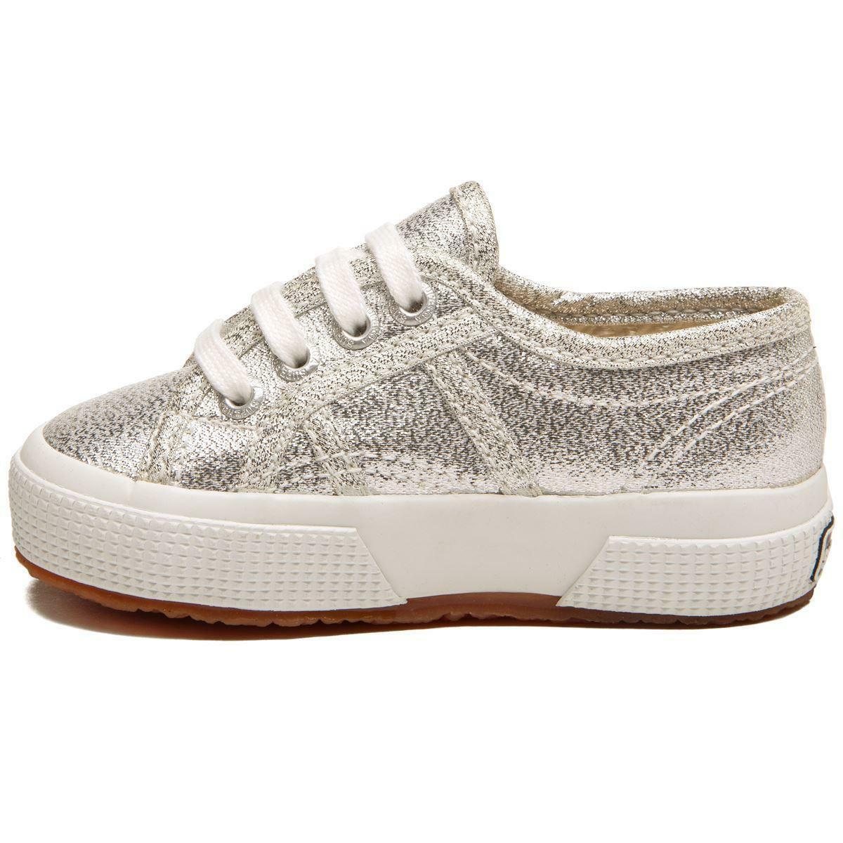 superga superga sneakers bambina 2750 lamej argento