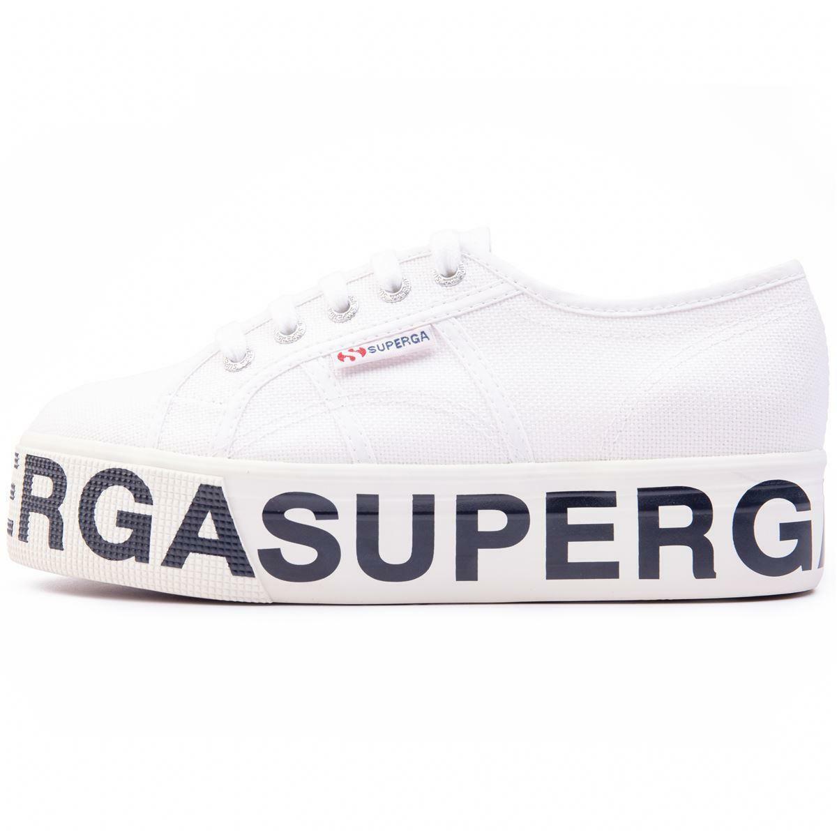 superga superga sneakers zeppa donna 2790 lettering white