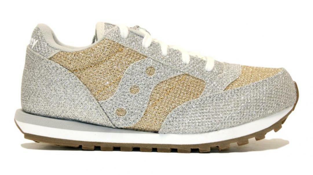 saucony saucony sneakers metallic sparkle bambina sk163034 argento