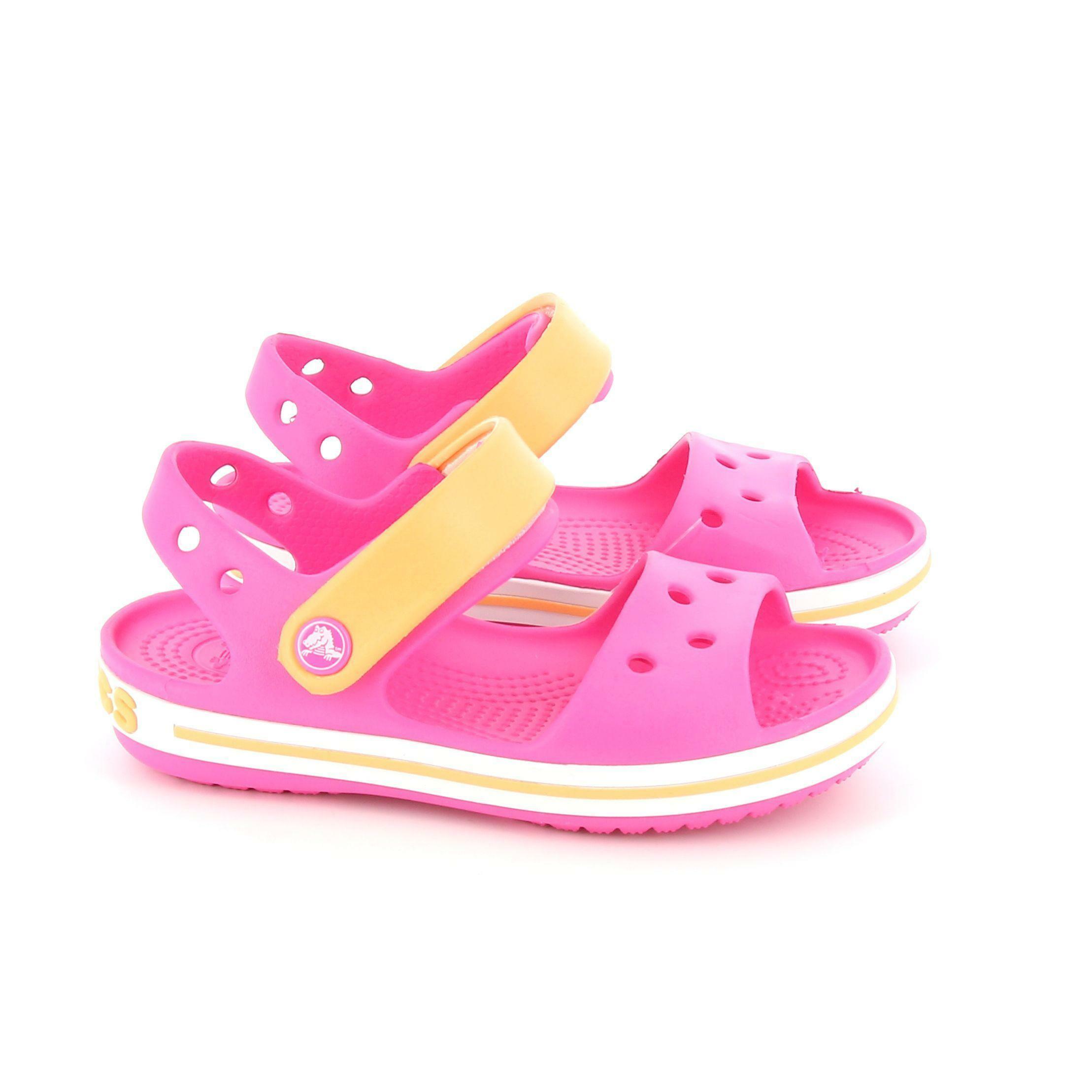 crocs crocs ciabatte bimba 12856 rosa sandalo con cinturino alla caviglia