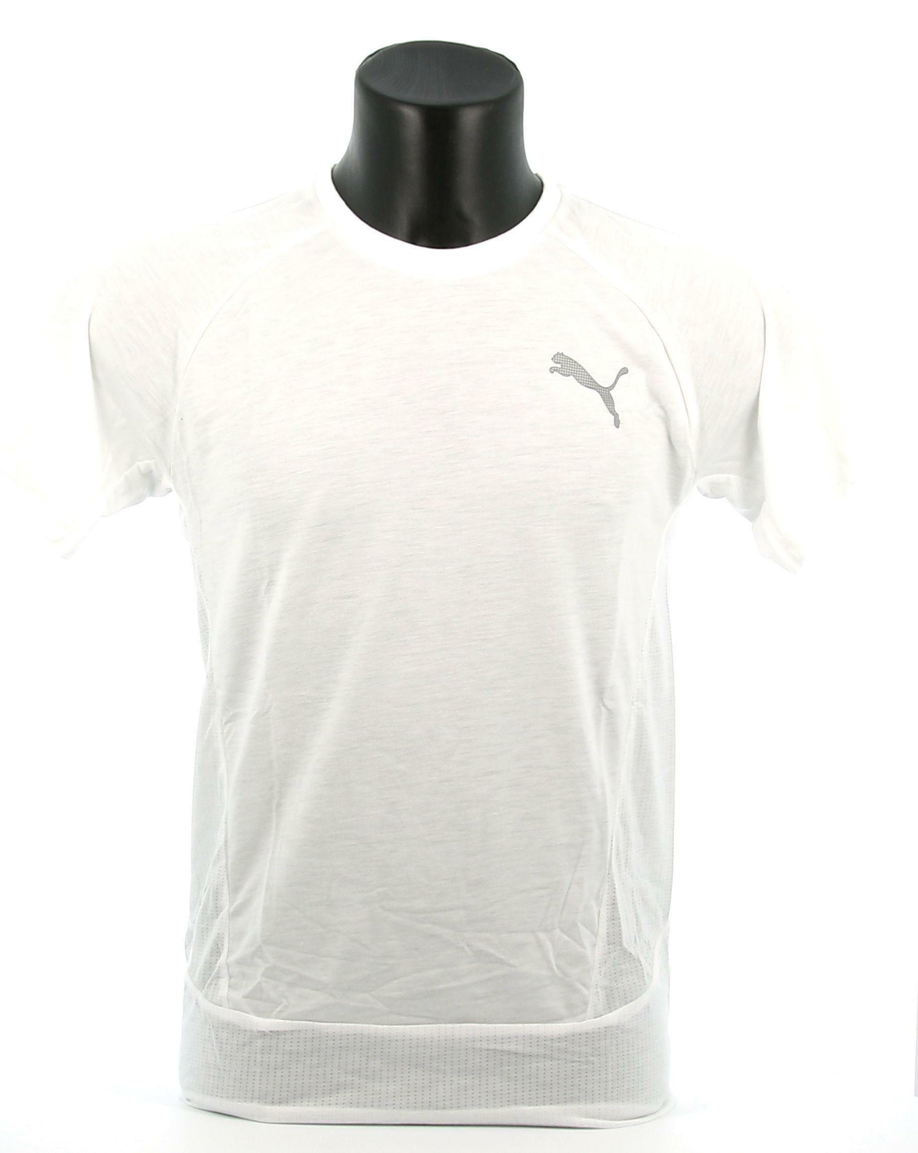 puma puma t-shirt 583462 002 bianco manica corta uomo