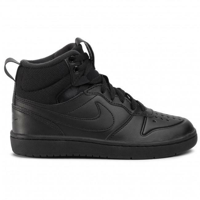 nike nike court borough mid 2 boot (ps) bq5442 001 nero scarpe da basket bambino