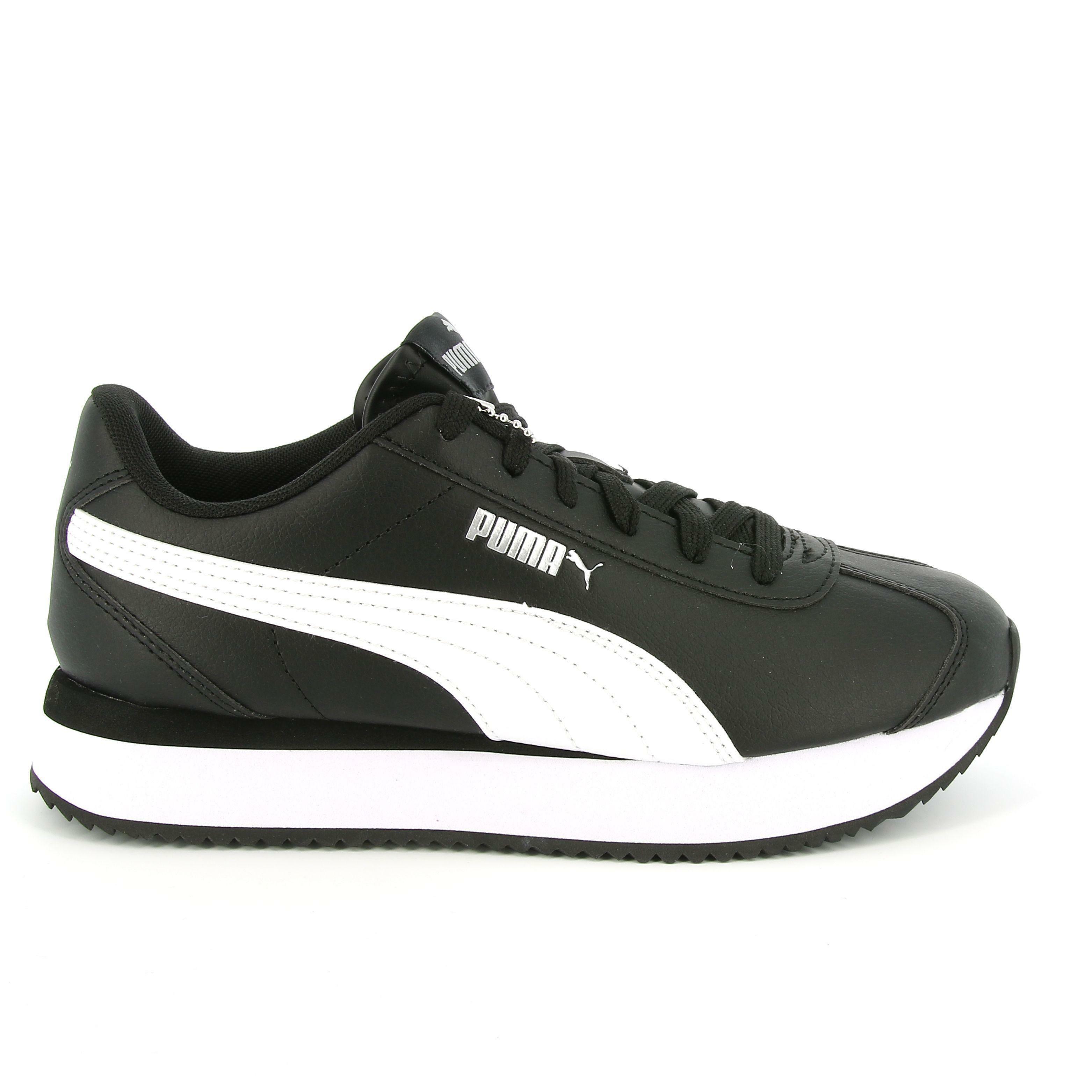 puma puma turino stacked sneakers bassa donna nero