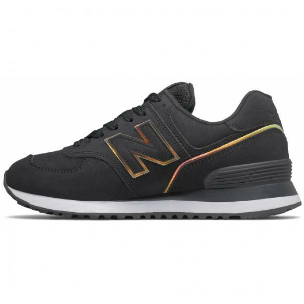 new balance new balance 574 wl574clg nero scarpe da ginnastica donna
